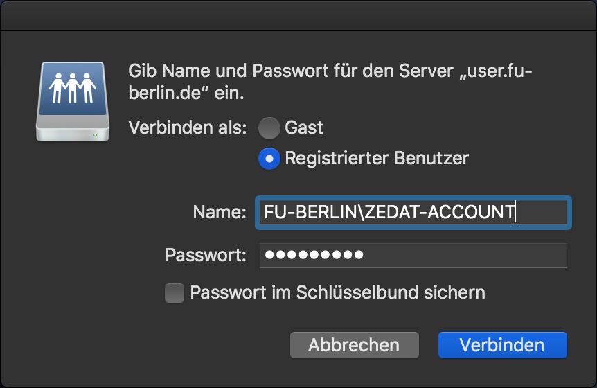 Zedat vpn client mac