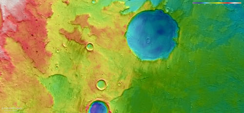 HRSC color-coded terrain model