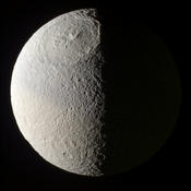 Impact structure on Tethys