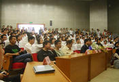 Chinese PhD-students listening to a nobel prize lecture