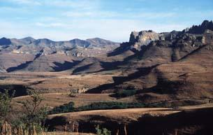 Landscape of the Karoo Basin South Africa with typical Gondwana successions