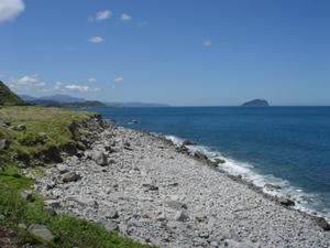 The exposed beach on the resulted from decreasing sea level, Northeastern coast, Taiwan