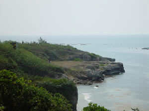 The changes in sea level results in the formation of marine terrace, Xao-Liau-Cho, Taiwa
