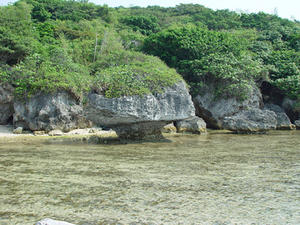 The features of the coast show evidences of changes in the sea level, Xao-Lio-Cho, Taiwan
