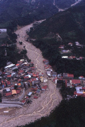 Debris flow can be devastated to human life and property, Xin-Yi, Taiwan