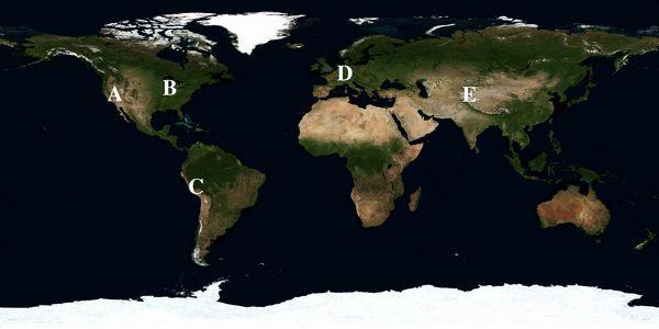 Global Distribution of Mountains • GeoLearning • Department ...