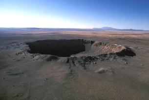 Aerial view of Meteor (or Barringer) Crater, Arizona (USA).