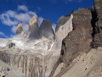 Effect of glacial erosion, Torres del Paine, Chile.