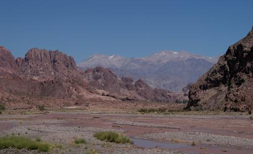 Uspalalta valley, Argentina, east of the Andes and dominated by dry conditions