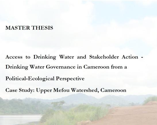 msc. thesis on watershed management 018530 - switch sustainable water management in knust msc thesis niyonzima steven ii mscthesis, 2007 grey water treatment using constructed.