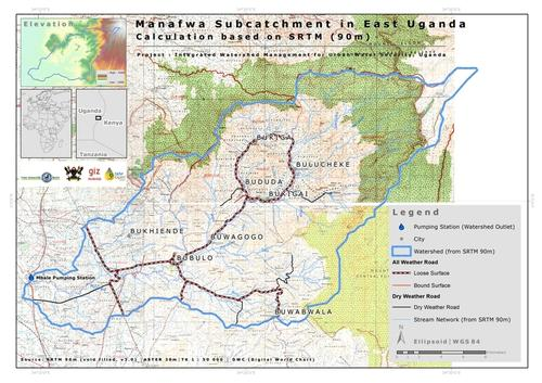 Map of the Manafwa subcatchment