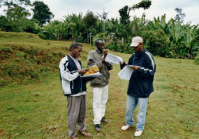 Mapping of several characteristics of the Gina River catchment, Ethiopie during a field seminar 2003