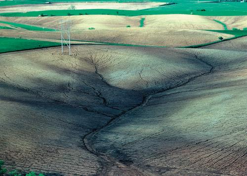 Rill erosion in Iowa, USA.