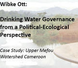 Master thesis about water governance in a Cameroonian subcatchment