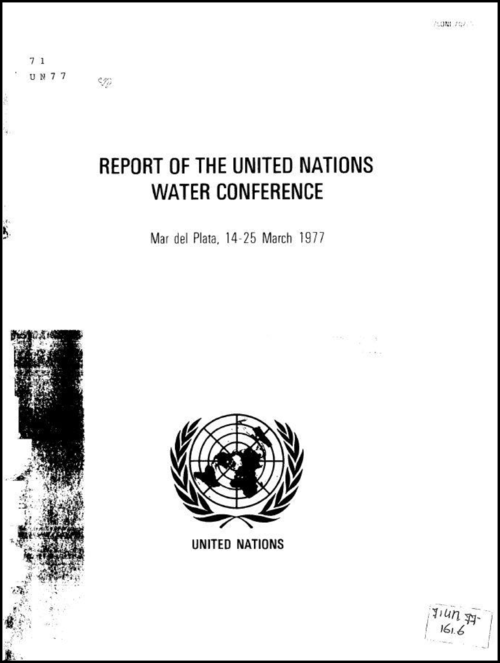 Cover: Report of the UN Water Conference 1977