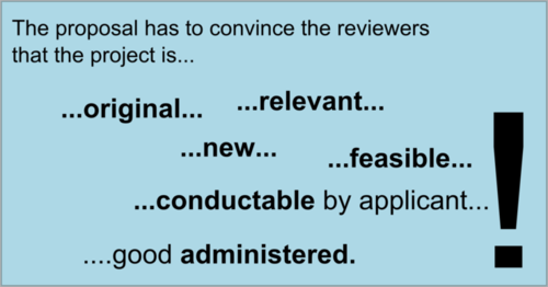 How a prosal convinces the reviewer.