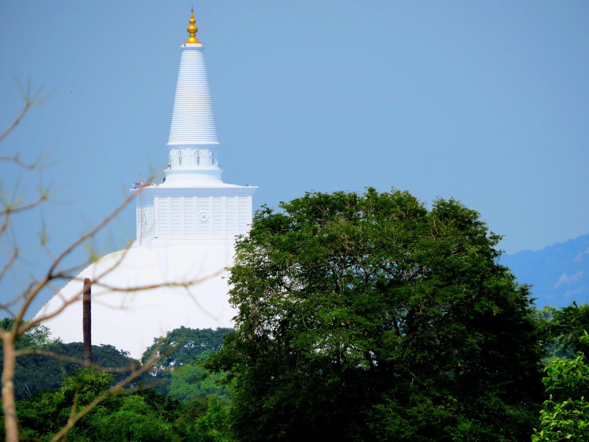 Ruwanwelisaya stupa at the city of Anuradhapura constructed in 1st century BCE