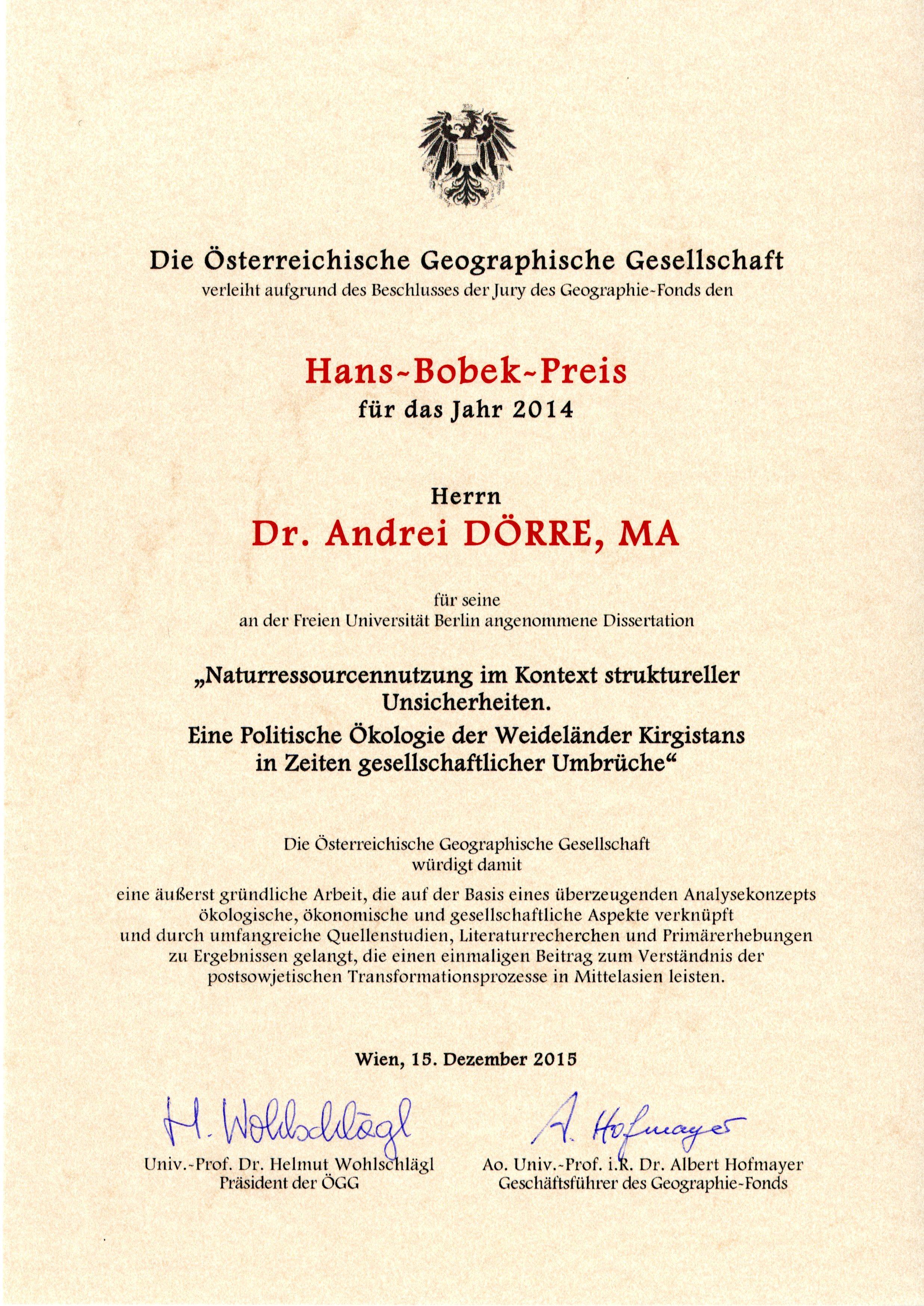 Andrei Dörre • Geographische Entwicklungsforschung • Fachbereich ...