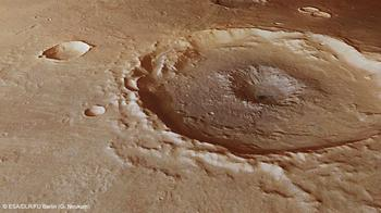 Region Thaumasia Planum on Mars