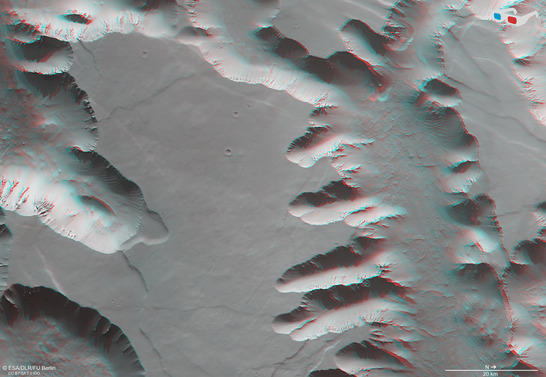 Noctis Labyrinthus anaglyph