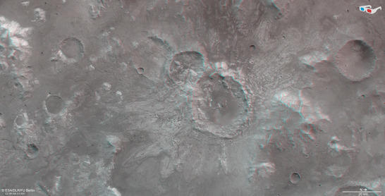 North of Hellas anaglyph