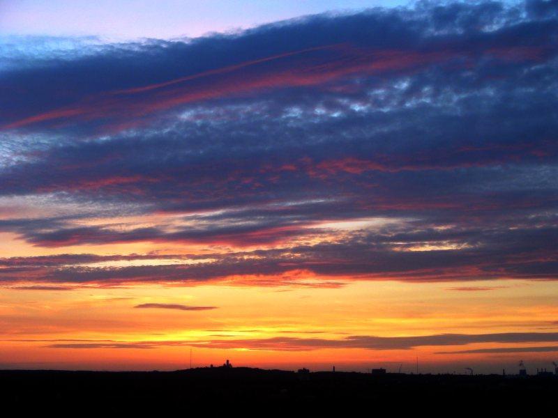 Sonnenuntergang in traumhaften farben